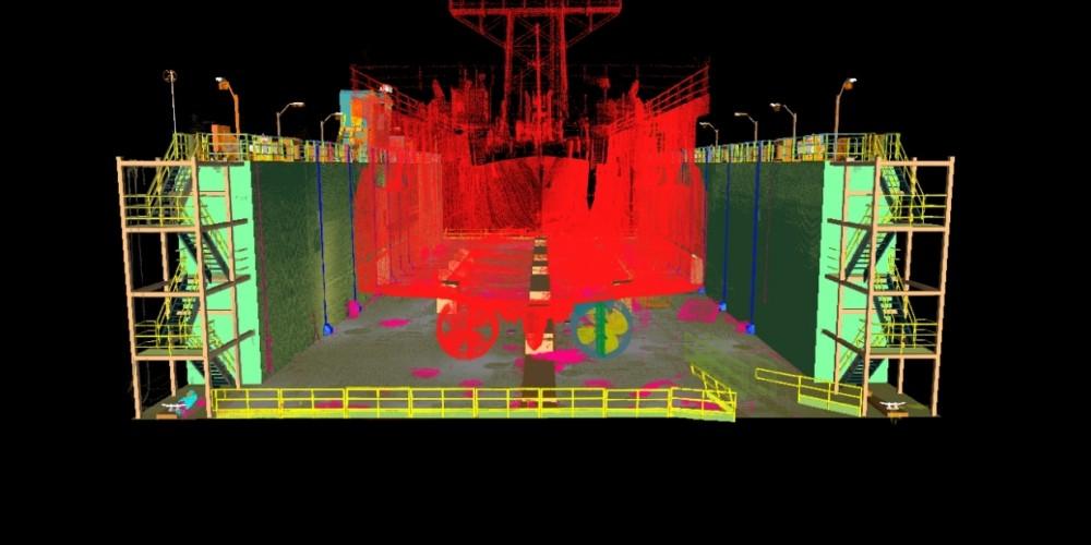 D Laser Scanning - Dry Dock Endeavour