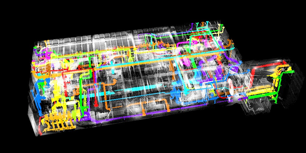 3D Laser Scanning - Piping Systems Isolated into Individual Layers