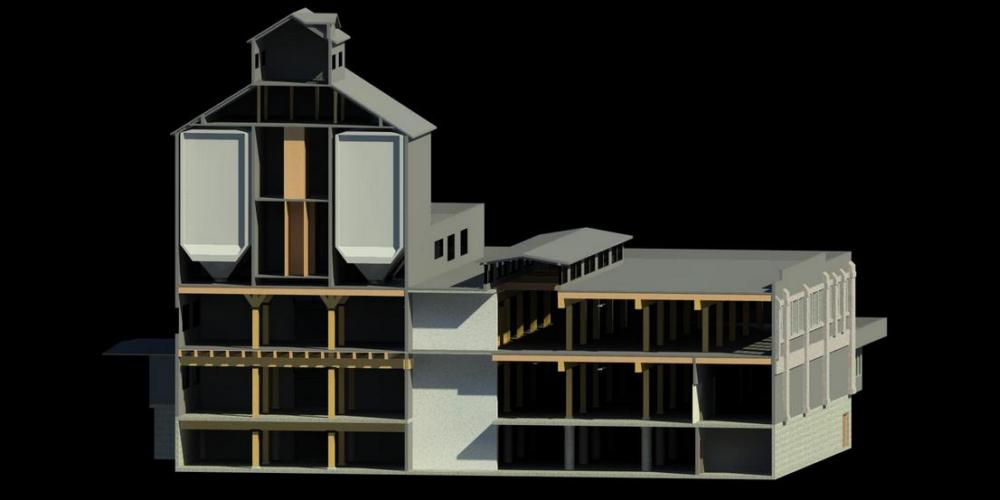 3D Laser Scanning - Bellingham Granary, REVIT Architecture